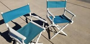 Vintage 60s Telescope Foldable  Directors Chair Patio Furniture or Indoors