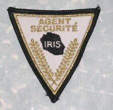 "Iris Agent Securite Patch  - France - 2 3/4"" x 2 3/4"""