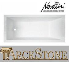 ARCKSTONE Vasca Bagno Rettangolare Novellini Calos Standard Incasso 180x80x58 cm