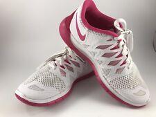 Juventud Talla 5 Rosa y Blanco Nike 5.0 Gratis Zapatillas Tenis Zapatos
