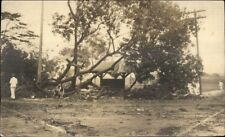 Storm Wreckage Outskirts of Manila Philippines c1910 Real Photo Postcard #1