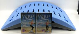 THE WAVE STEP BOARD The Firm: Cardio Fitness Exercise Platform System + DVDs