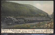 Postcard BLACK DIAMOND EXPRESS Railroad Train Locomotive #801 1906