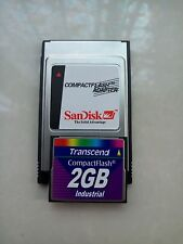 Transcend Industrial  2GB CF Card +ATA PC card PCMCIA Adapter JANOME Machines