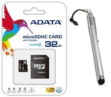 Adata 32GB MicroSD Micro SD Flash Class 4 Memory Card+ Stylus For HTC One M8 E8
