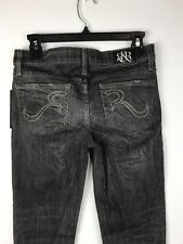 NWT Rock & Republic Jeans Posey Low Rise Skinney Distressed Upstage Grey 26 X 29