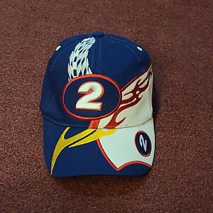 NASCAR Blue & White OSFM Adjustable #2 Brad Keselowski Strapback Hat Cap