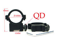 """Tactical 1"""" 25.4mm Low Profile QD Scope Ring Mount for 11mm Picatinny Rail New"""