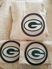 Pottery Barn Teen Full/Queen NFL Duvet and 2 standard shams, Greenbay Packers