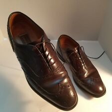 Johnston And Murphy Mens Burgundy Color Cordovan Oxford Wing Tips Size 9 #9504