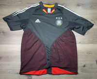 2004 Adidas Embroidered Home Black Germany Soccer Jersey Size Men's XL