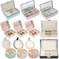 Portable Jewelry Storage Box Jewelry Necklace Ring Organizer Ornaments Case