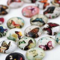 10PCS  DIY  Colorful Butterfly Floating Charm Glass  Locket  Living Memory