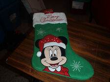 DISNEY MINNIE MOUSE CHRISTMAS STOCKING, LINED IN RED AND WHITE NEW WITH TAGS