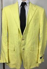 Ralph Lauren Polo Suit Lined Jacket Mens 42 Long Yellow Flax Linen