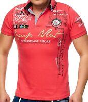 Herren Polo-Shirt mit V-Ausschnitt und Knopfleiste | Kurzarm | Camp Vlnt 006