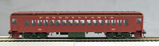 HO mP-54 Pre WWII Pennsy Coach#390 (Brown roof,Light Tuscan sides, Olive trucks)
