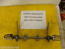 07 Chinese snow bike snowmobile xingyue 250 motorcycle PEGS FOOTPEGS BAR PEG SET