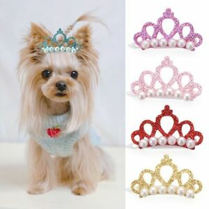 Puppy Accessories Headdress Bow-tie Hairpin Dog Bowknot Hair Clip Crown Shape
