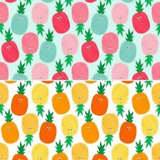Fruity Friends Peter Pineapple 100% Cotton Fabric Patchwork (Makower)