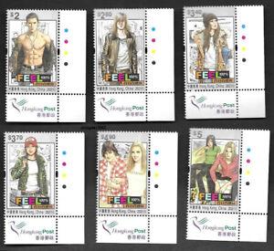 Hong Kong, China 2021 Feel 100% 6V Imprint Bird Color Manga Award 百分百感覺