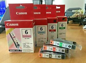 Genuine Canon Inks - BCI-6 COLOURS SINGLES SETS & MULTIPACKS (INC VAT) LOT