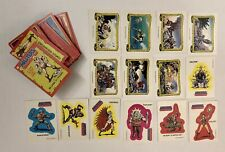 Vtg Topps Masters Of The Universe 88 Trading Cards Complete Set & 14 Stickers
