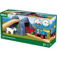 BRIO WORLD 33027- Railway Mountain Set 21 teilig Dampflok Tunnel Berg NEU/OVP