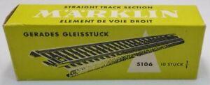Marklin 5106 HO Metal Straight Track (Box of 10) LN/Box