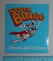 ADESIVO VINTAGE STICKER AUTOCOLLANT IL RESTO DEL CARLINO ANNI '80 11x12 cm RARO