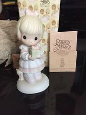 Precious Moments God Sends The Gift Of His Love Figurine E-6613 girl gift Cross