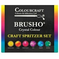 Brusho® Craft Spritzer Set 6 - Non Toxic ***+FREE WAX RESIST STICKS!!!***