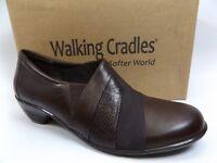 WALKING CRADLES WOMEN'S [SZ 8.0 M] CULLEN SLIP ON BROWN CASHME LEATHER  D1536