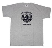 TS Adler Germany Deutschland Herren Tshirt kurzarm grau Gr.L