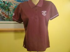 Women's Lacoste 75th Anniversary Ans Roland Garros Maroon Polo Shirt Size 42 XL