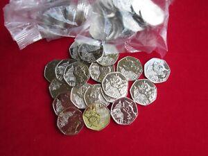 NEW 2019 Paddington at St Pauls 20 x 50p Coins Uncirculatedfrom Sealed Bank Bag