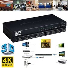 1 x 8 HDMI 8-Port Video Splitter Amplifier Repeater 3D 1080p 1 Input 8 Output