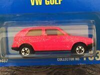❤️RARE ❤️💙💚💛🧡1990 Hot Pink Metal Flake Paint VW Golf Hot Wheels #183