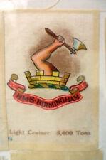B.D.V. Cigarettes Silk- HMS BIRMINGHAM Light Cruiser 5,400 Tons