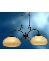 Kichler 2 Light Olde Bronze And Light Umber Mist Glass Chandelier/Island