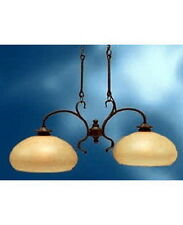 Kichler 2 Light Olde Bronze And Light Umber Mist Glass Chandelier/Island