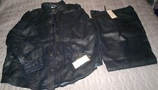 NWT NAVY REAL SOFT LEATHER LINED  SUIT  JACKET /TOP sz 54 PANTs w40 price drop