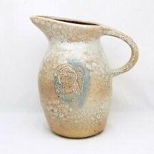 Marianna Von Allesch Mid-Century Modern Pottery Pitcher w Abstract Design-Signed