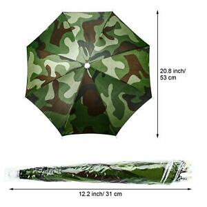 Sun Umbrella Hat Outdoor Hot Foldable Golf Fishing Headwear Camping Cap 1 Pack