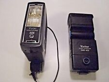 Lot of 2 Vivitar Zoom Thyristor SMS 40D Bounce & Auto 292 Flash for Canon Camera
