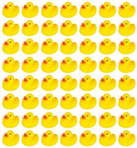 50 Kids Bath Yellow Rubber Ducks Yellow FREE SHIPPING