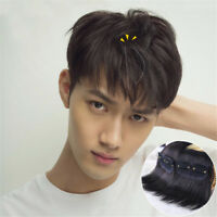 Men's 100% Real Human Hair Clip in Hair Extension Cover Thin/Loss Hairpiece