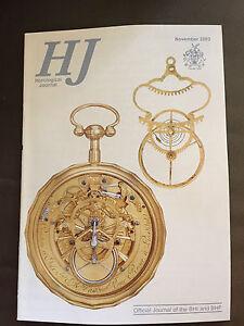 NOV 2003 HOROLOGICAL JOURNAL MAGAZINE - TURRET CLOCKS IN IPSWICH