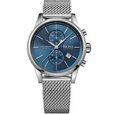 HUGO BOSS MENS JET CHRONOGRAPH WATCH HB1513441 BLUE DIAL METAL STRAP, RRP£299.00