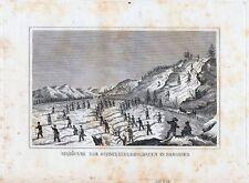 MANÖUVRE DER SCHNEESCHUHSOLDATEN-StSt. um 1837-9,0x14,0 cm